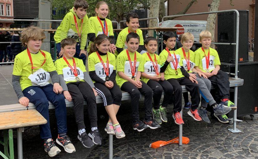 Schüler-Ekidenlauf beim Gutenberg-Marathon